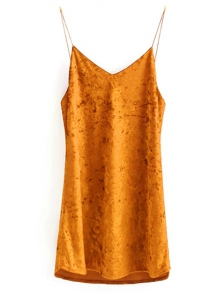 Cami Velvet Slip Dress