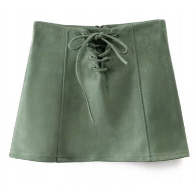 A Line Suede Effect Skirt