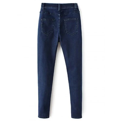 Zip Fly High Waisted Skinny Jeans