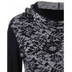 Lace-Up Asymmetrical Hooded T-Shirt deal