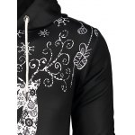 Deer Print Pocket Front Christmas Black Hoodie Mens for sale