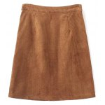 cheap Single Breasted High Waist A-Line Skirt With Pockets