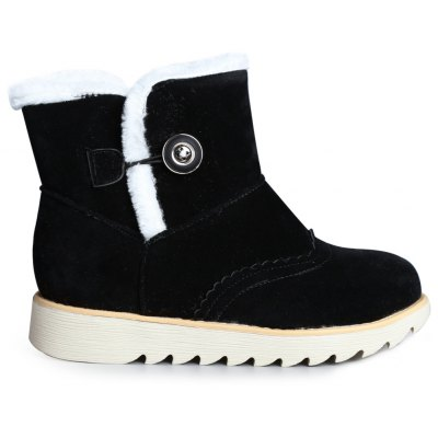 Faux Fur Flat Snow Boots