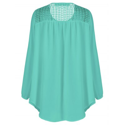 Tassles Splicing Long Sleeve Chiffon BlousePlus Size Tops<br>Tassles Splicing Long Sleeve Chiffon Blouse<br><br>Material: Spandex<br>Clothing Length: Long<br>Sleeve Length: Full<br>Collar: Scoop Neck<br>Style: Casual<br>Season: Fall,Spring<br>Pattern Type: Patchwork<br>Weight: 0.188kg<br>Package Contents: 1 x Blouse