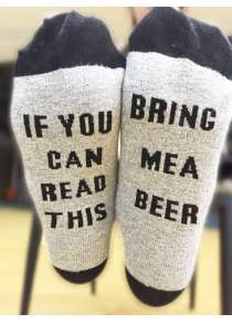 Pair of Letter Graphic Contrast Socks