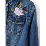 Flower Embroidered Jean Jacket deal
