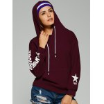 cheap Trouble Maker Graphic Star Print Hoodie
