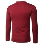 cheap Stylish Stand Collar Slimming Pocket and Button Design Long Sleeve Polyester Polo Shirt For Men