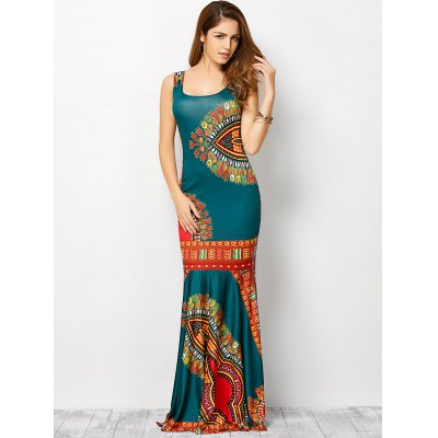 Bohemian Tribe Print Long Fitted Mermaid DressMaxi Dresses<br>Bohemian Tribe Print Long Fitted Mermaid Dress<br><br>Dresses Length: Floor-Length<br>Material: Spandex<br>Neckline: U Neck<br>Package Contents: 1 x Dress<br>Pattern Type: Print<br>Season: Summer<br>Silhouette: Sheath<br>Sleeve Length: Sleeveless<br>Style: Bohemian<br>Weight: 0.320kg<br>With Belt: No