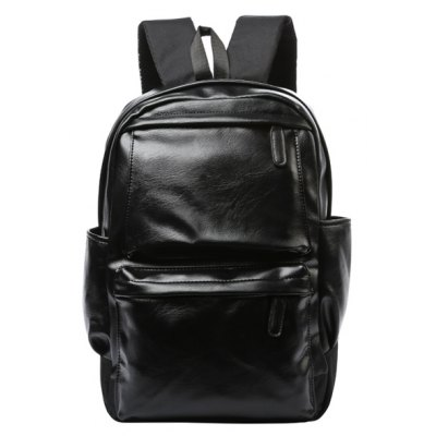 Black Design Backpack For Men