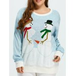 Plus Size Funny Snowman Pattern Christmas Sweater