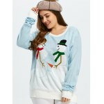 cheap Funny Snowman Pattern Christmas Cute Plus Size Sweater