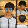 Heat Resistant Synthetic Short Boy Cut Capless Fluffy Curly Wig