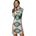 Turtle Neck Tribal Sweater Dress photo