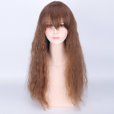 Long Full Bang Water Wavy Cosplay Wig