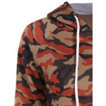 Camo Print Drawstring Pullover Hoodie deal