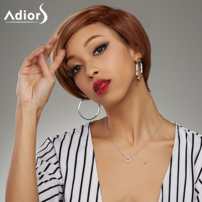 Short Haircut Soft Straight Highlight Synthetic Wig