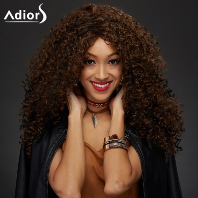 Adiors Shaggy Curly Colormix Synthetic Vogue Long Wig
