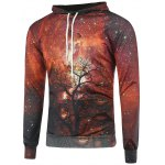 Buy Red 3D Galaxy Tree Branch Hoodie-20.74 Online Shopping GearBest.com