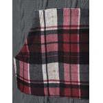 Plaid Cable Knit Tunic Sweater for sale
