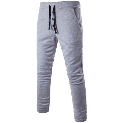 Button Fly Jersey Pants