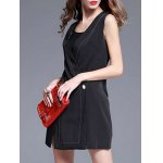 Deep V Neck Slit Sleeveless Mini Dress for sale