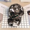 Camouflage Print Baseball Hat with 09 Embroidery