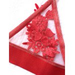 Transparent Wire Free Floral Mesh Bra for sale