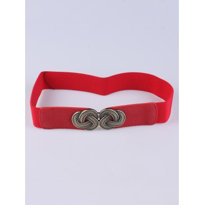 Chinese Knot Clasp Buckle Stretch Belt