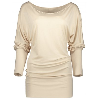 Candy Color Ruched Long Sleeve Tee