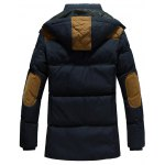 cheap Hooded Color Block Elbow Patch Padded Jacket