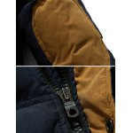 Hooded Color Block Elbow Patch Padded Jacket deal