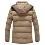 cheap Hooded Pockets Design Padded Jacket