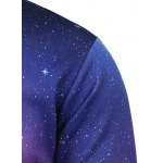 Crew Neck Galaxy Printed Sweatshirt deal