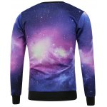 cheap Crew Neck Galaxy Printed Sweatshirt