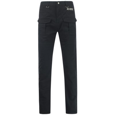 Letter Embroidered Straight Leg Pants