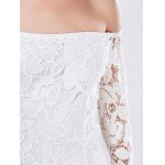 Mini Off The Shoulder Lace Bodycon Dress With Long Sleeve photo
