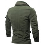 Zip Up Utility Jacket with Multi Pockets for sale