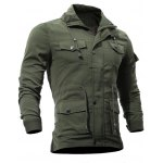 cheap Zip Up Utility Jacket with Multi Pockets