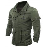 Zip Up Utility Jacket with Multi Pockets deal