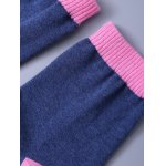 best Funny Letter Graphic Pattern Color Block Knitted Socks
