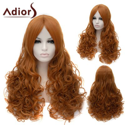 Adiors Long Middle Parting Fluffy Wavy Cosplay Synthetic Wig