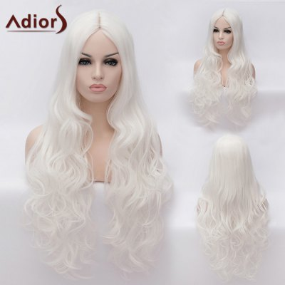 Adiors Ultra Long Middle Parting Fluffy Wavy Cosplay Synthetic Wig