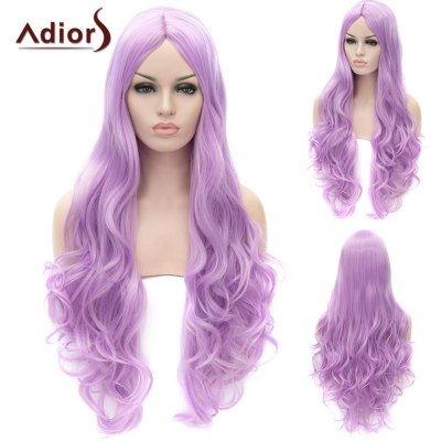 Adiors Ultra Long Middle Parting Shaggy Wavy Cosplay Synthetic Wig