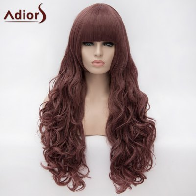 Adiors Long Neat Bang Fluffy Big Wave Cosplay Synthetic Wig