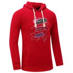 cheap Hooded Graphic Print Thicken Fleece Hoodie