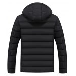 cheap Full Zip Hooded Quilted Jacket