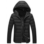 Full Zip Hooded Quilted Jacket