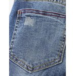 Floral Frayed Embroidered Jeans for sale