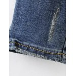 best Floral Frayed Embroidered Jeans